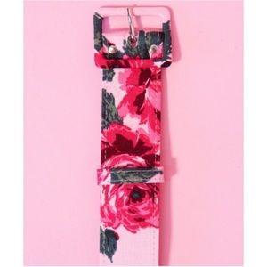 ✨1.5 inch Sateen Belt - Vintage Roses